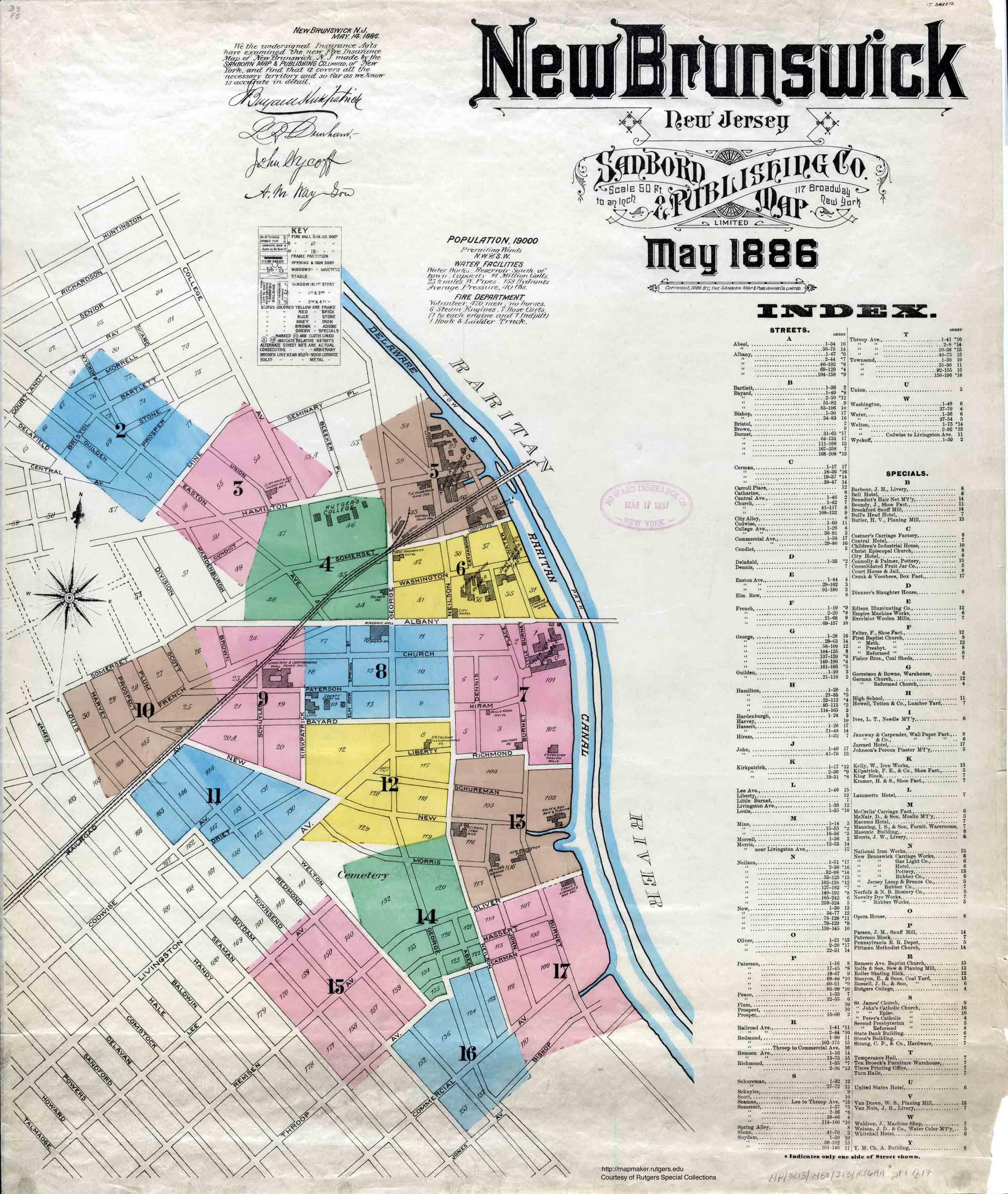 New Brunswick New Jersey Sanborn Maps