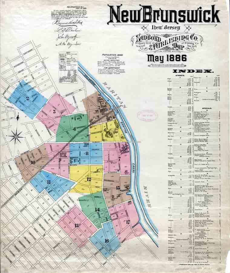 New Brunswick, New Jersey Sanborn Maps