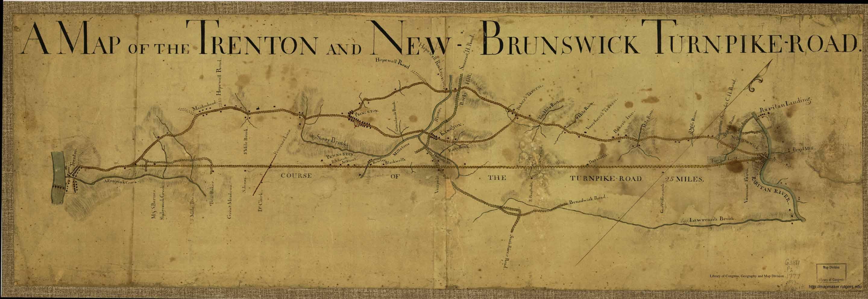 Trenton New Brunswick Turnpike 1777